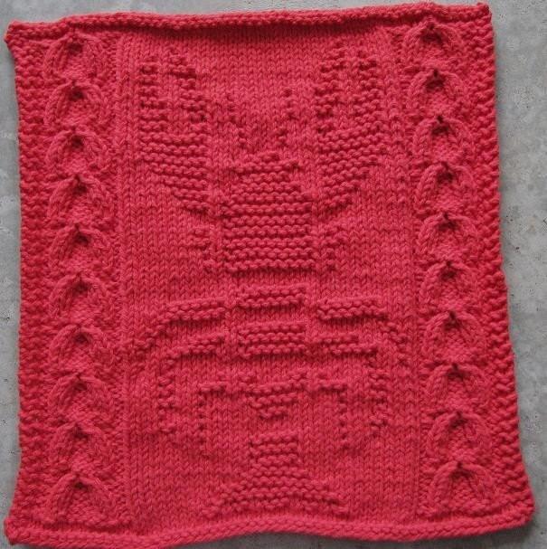 Etsy Knitting Patterns : Lobster Dishcloth PDF Knitting Pattern by wrchili on Etsy