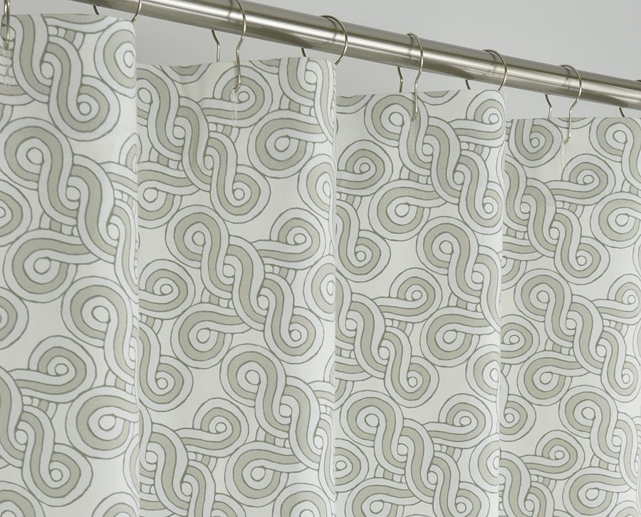 84 long taupe canvas shower curtain 72 x 84 long by pondlilly