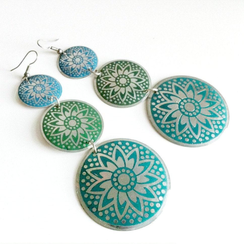 Flower Mandala Earrings - EridaneasBoutique