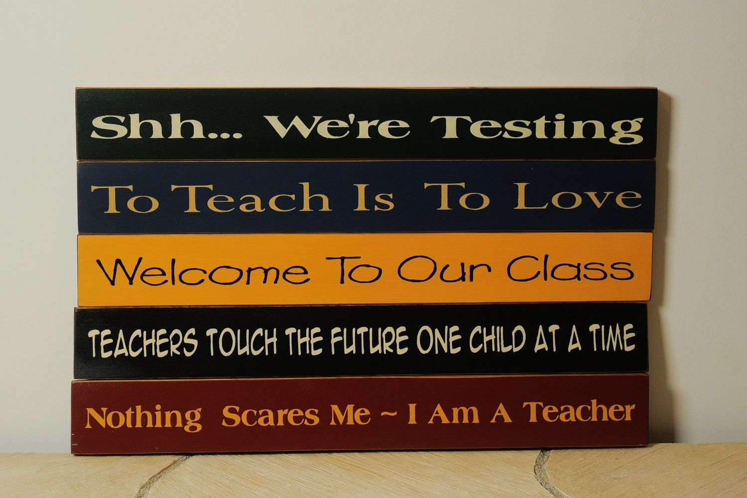 Set of Five Teacher Signs