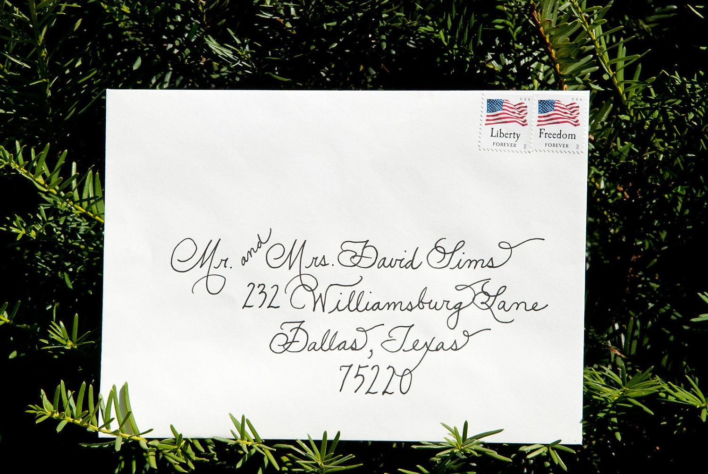 Wedding Calligraphy Envelopes Custom By Thepamperedpaper