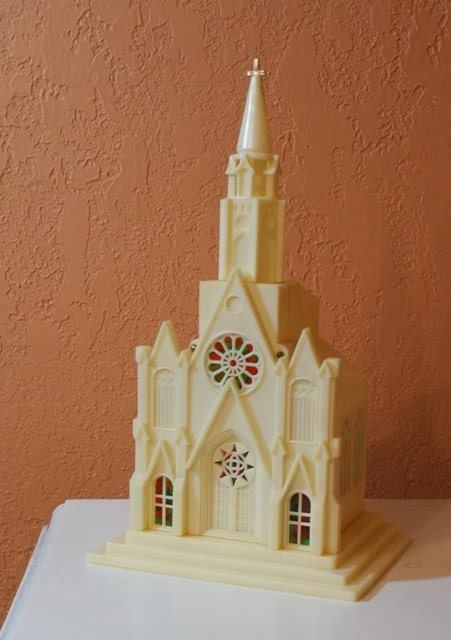 Vintage Church Lighted Music Box By Prettyfultreasures On Etsy