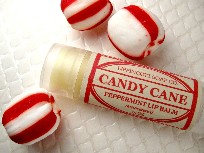 Candy Cane Lip Balm - Christmas Lip Balm - All Natural