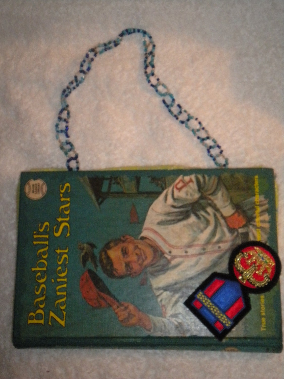 Vintage book purse Baseball's Zaniest Stars - Retro VLV Fun - PocketbookPurses