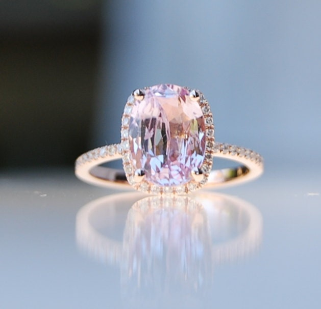 Champagne diamond engagement ring rose gold pictures