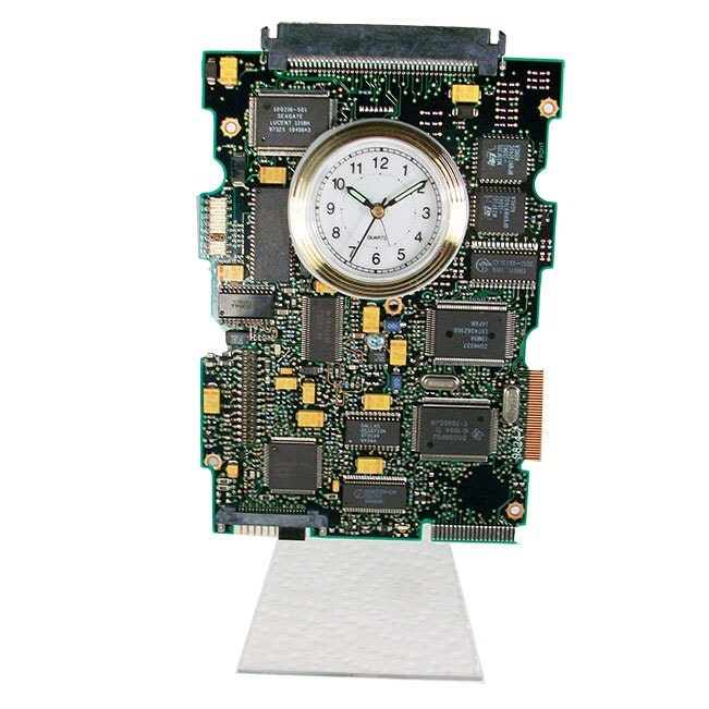 this gadget is a circuit board alarm clock from by tecoart