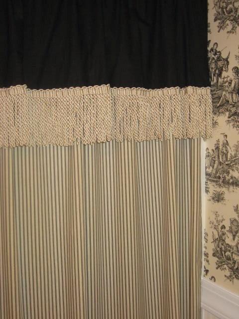 Custom Made Valanced Shower Curtain By 4Heidesign On Etsy