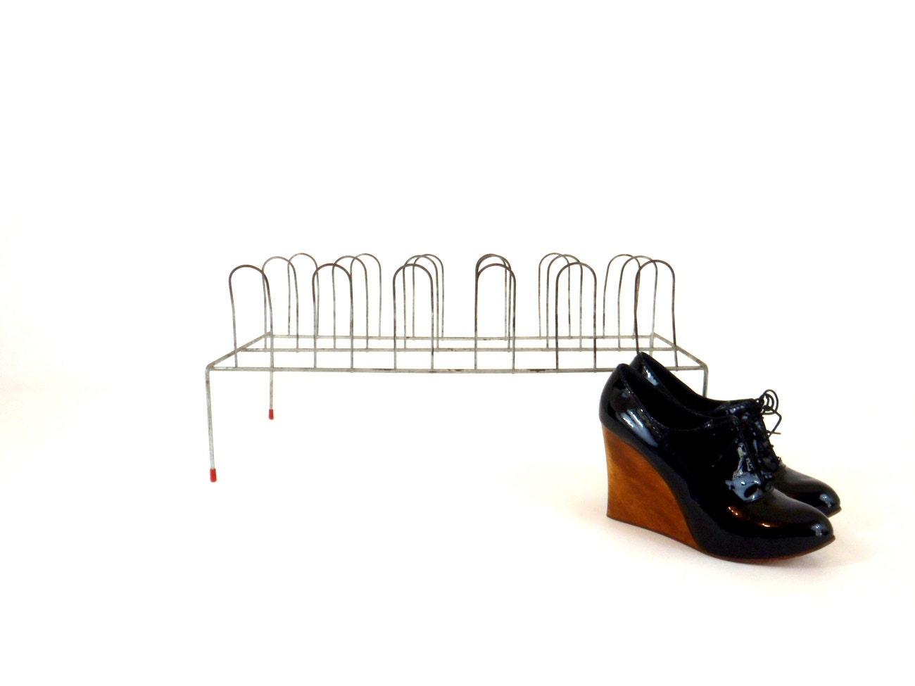 Closet Organizer Shoe Rack Metal Shoe Stand Vintage By Honestjunk