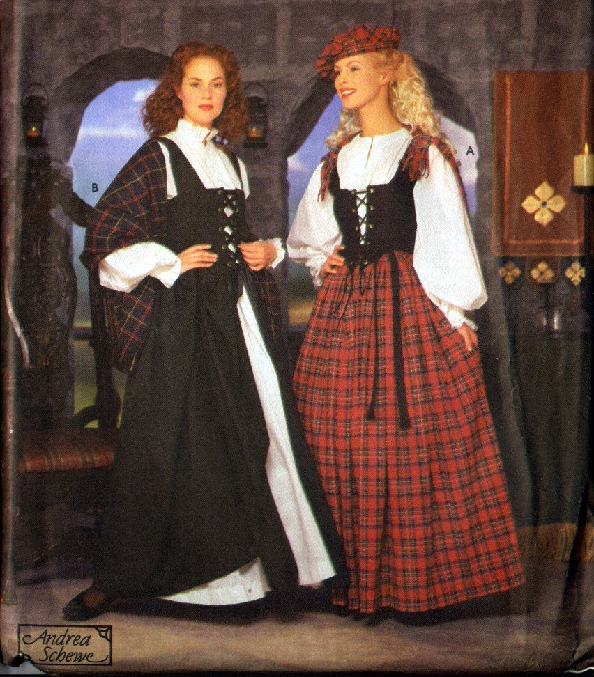 Scottish or Irish Traditional Womans Costume by WearingHistory