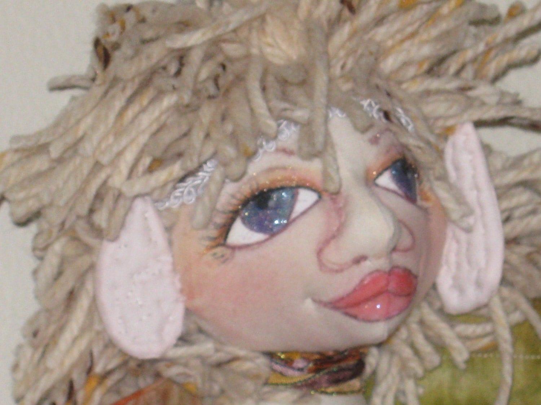 Lila, a wall fairy, wall angel doll ooak - jeanschroeder