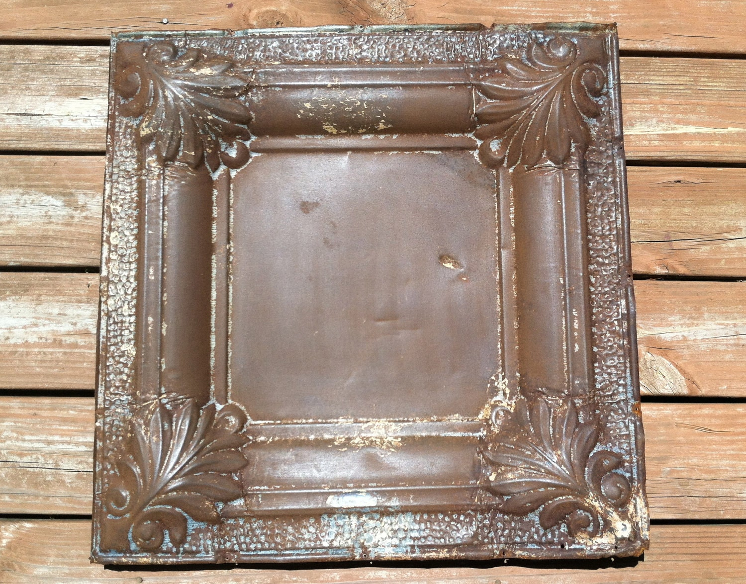 Vintage Pressed Tin Ceiling Tile 24in by by SunSweetReclaimers