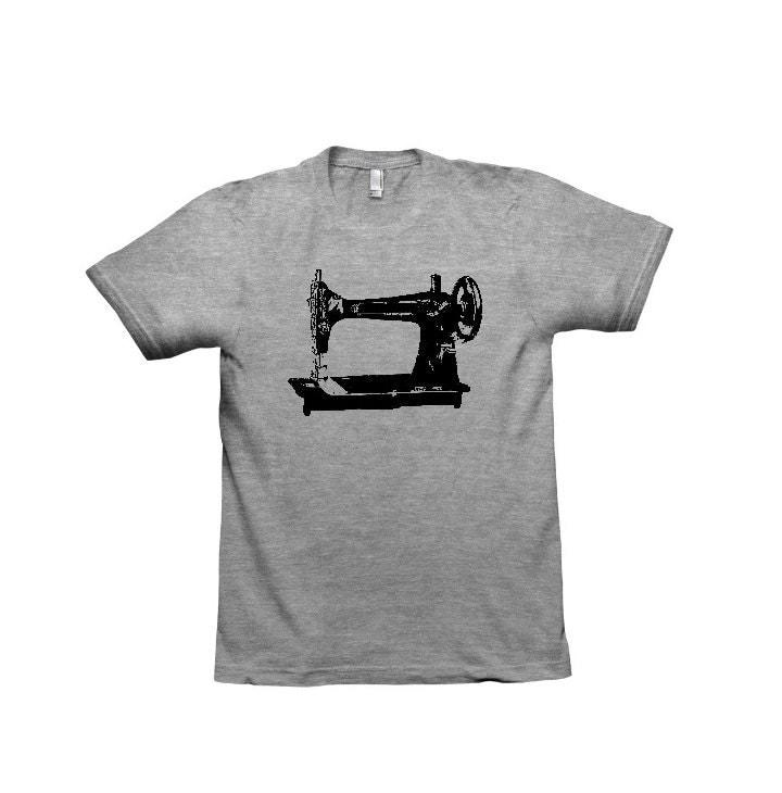 Sewing machine tshirt womens shirts screen printed by