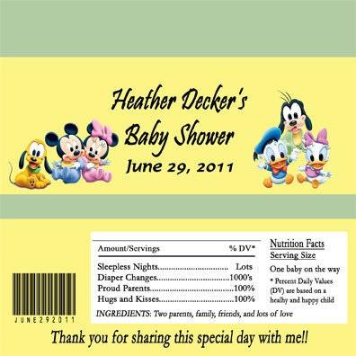 disney babies baby shower candy bar wrapper digital file