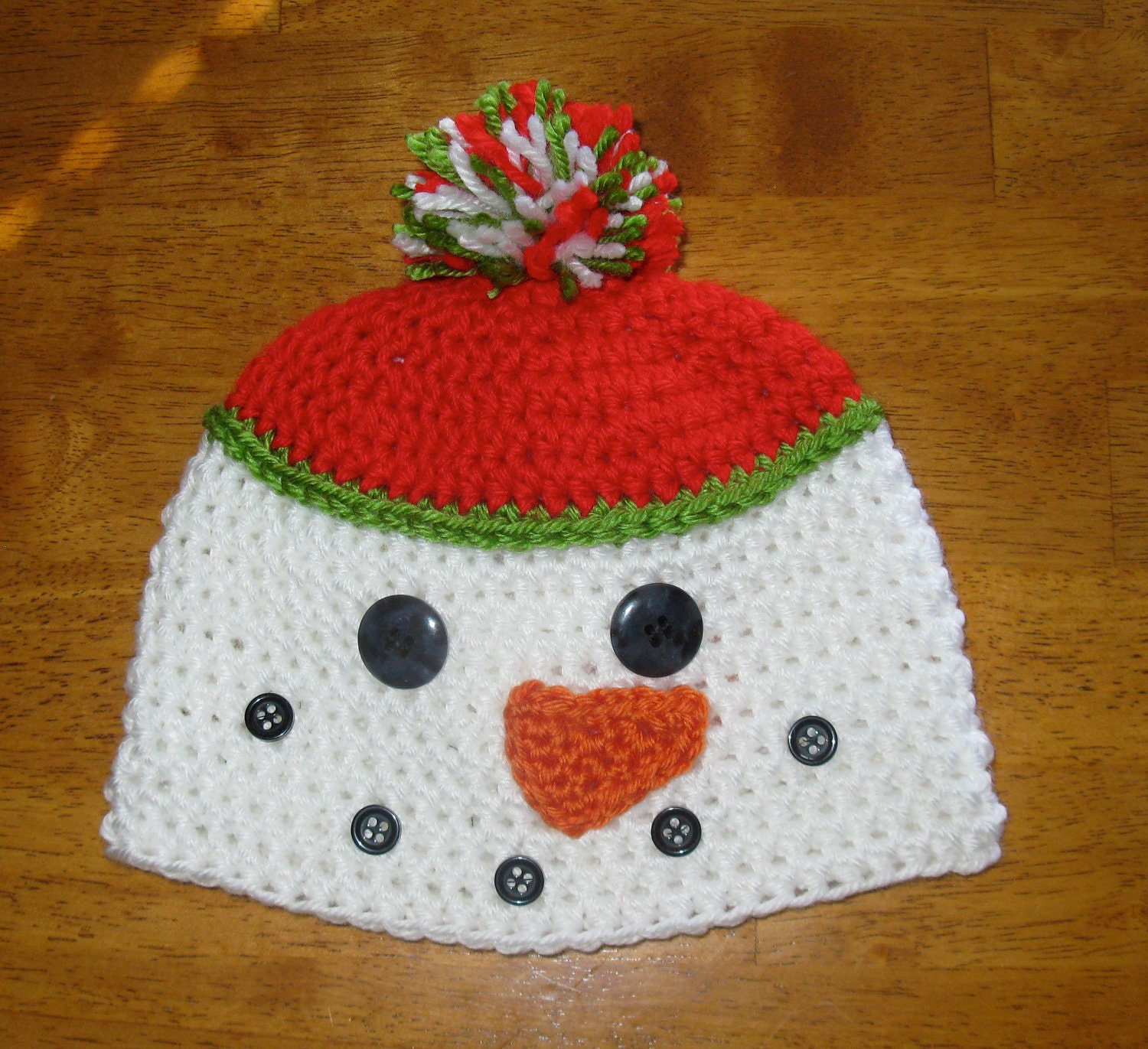 Crochet Pattern Snowman Hat : CROCHET PATTERN HAT Snowman Beanie and by Simply2Irresistible