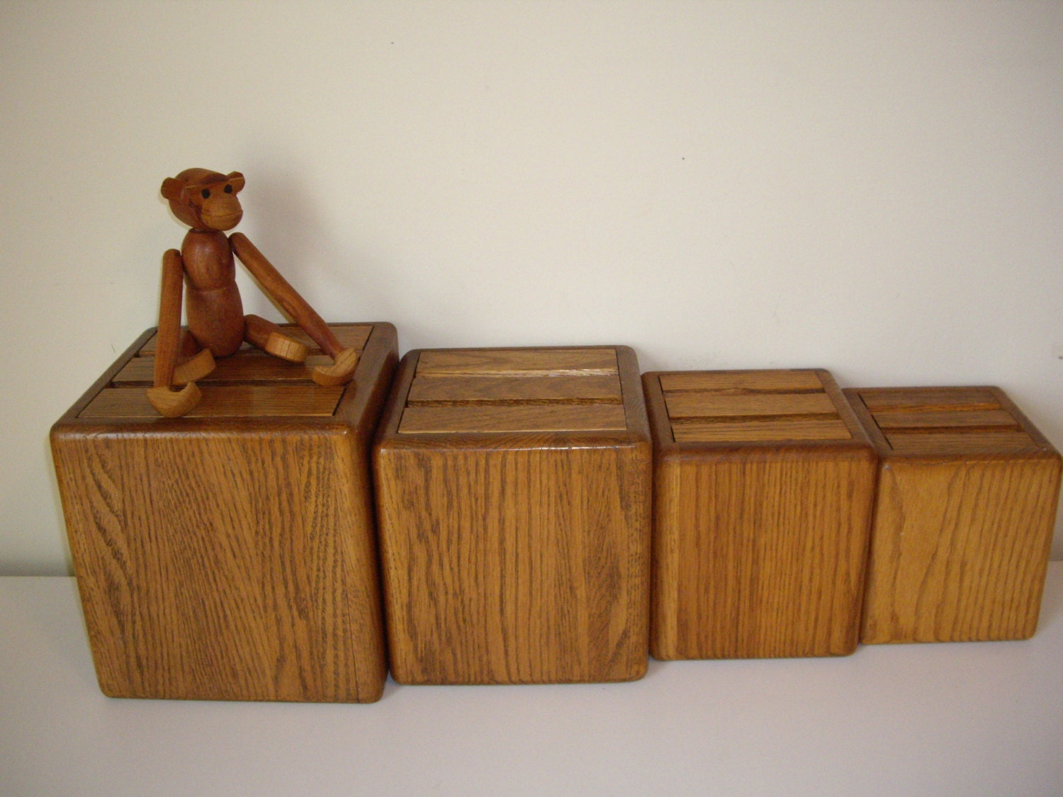 vintage wood canister set kitchen canisters by vintage wood canister set with plastic inserts and lids made