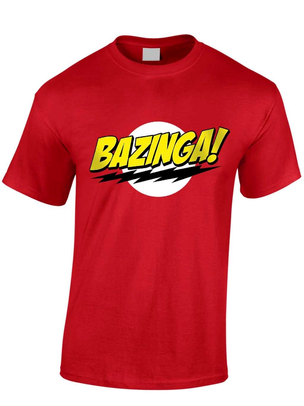Bazinga TShirt Father Funny Fathers Day Son Daughter Dad Humour Novelty Happy Birthday New Dad To Be Television Humour