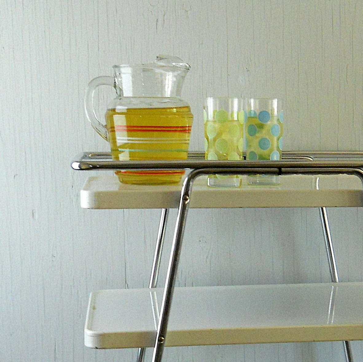 Vintage Rolling Metal Kitchen Cart By Lisabretrostyle2 On Etsy
