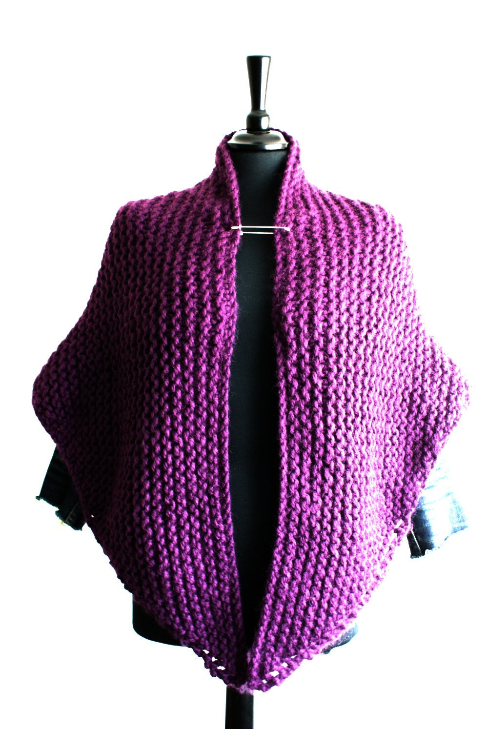 Knitting Patterns For Capes And Shawls : Knitting Pattern Cape Shawl Wrap Medium & by eclecticmixknitwear