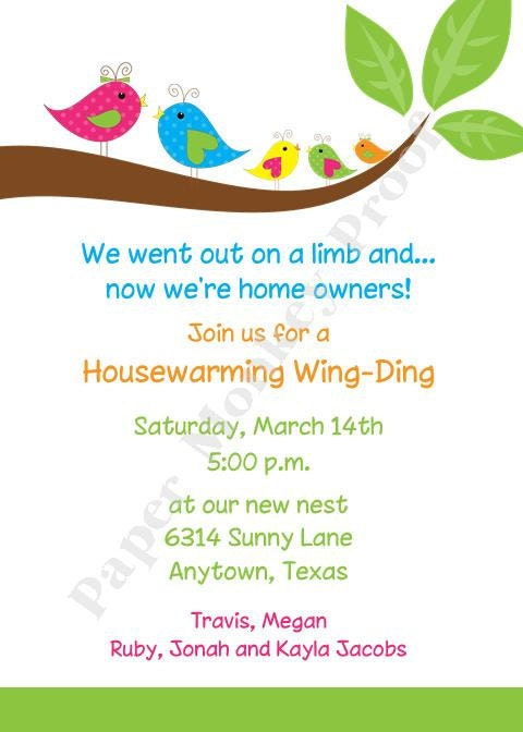 Housewarming Invitations By Pmcinvitations On Etsy