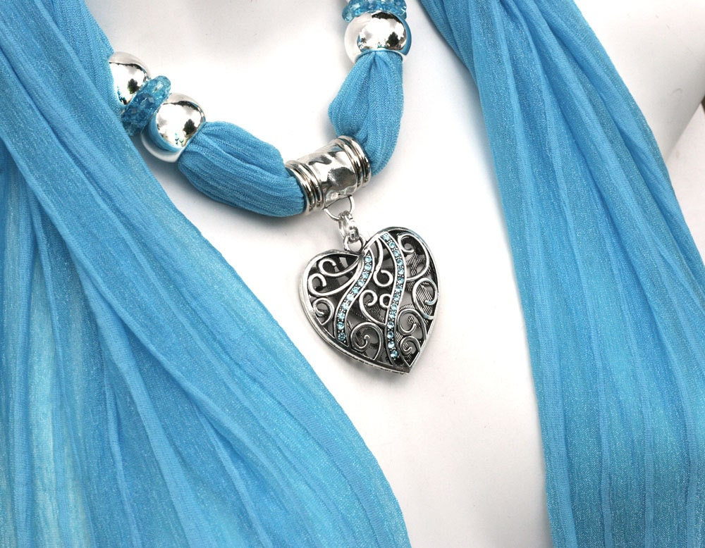 scarf jewelry pendant scarves with by