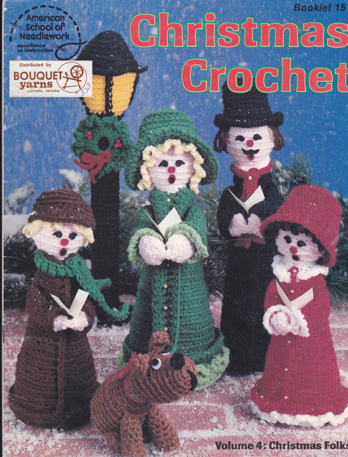 Pattern Booklet Christmas Crochet Carolers By