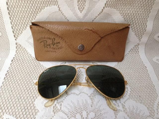 SUPER SALE Vintage Ray - Ban Aviator Sunglasses, Pilot Glasses, Bausch