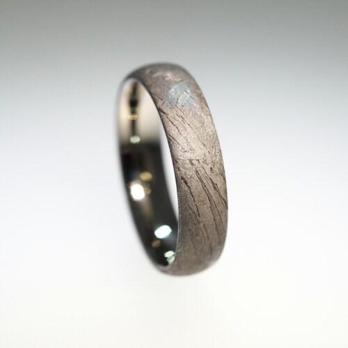 meteorite ring titanium band brenham by jewelrybyjohan
