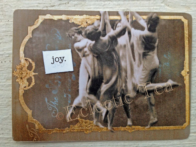 Digital Collage ACEO: Joy