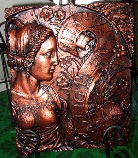 Garden Art Bronze Roman Woman Cement Stone - DACmentandMore