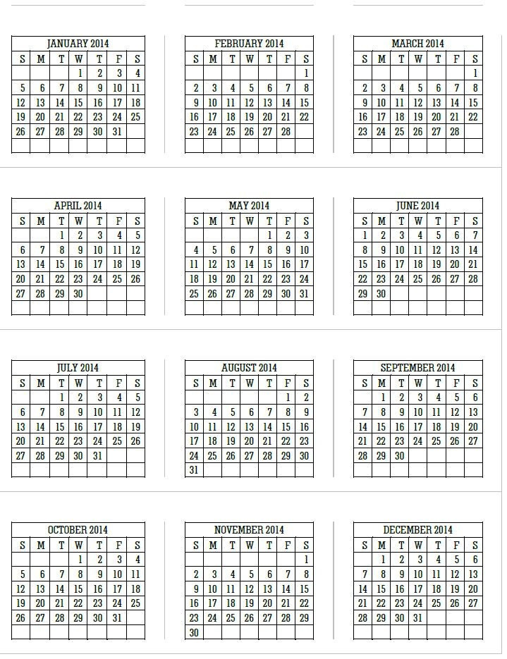 Calendar 2014 Pdf Download
