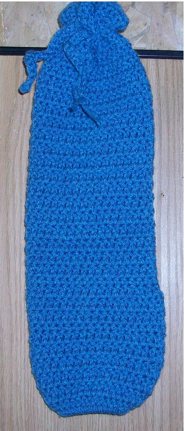 Crochet Plastic Bag Dispenser Pattern : Items similar to Handmade crocheted plastic bag holder on Etsy