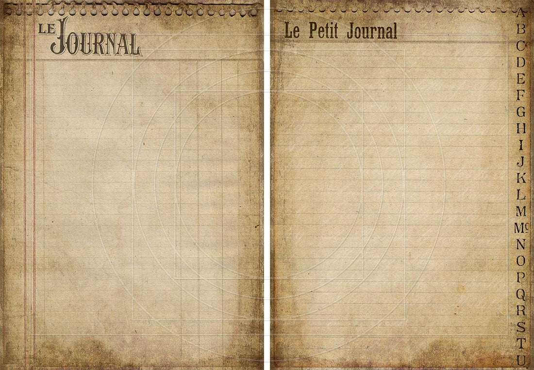 Journal Paper Printable in  jOURnAL pAgES DIgiTal