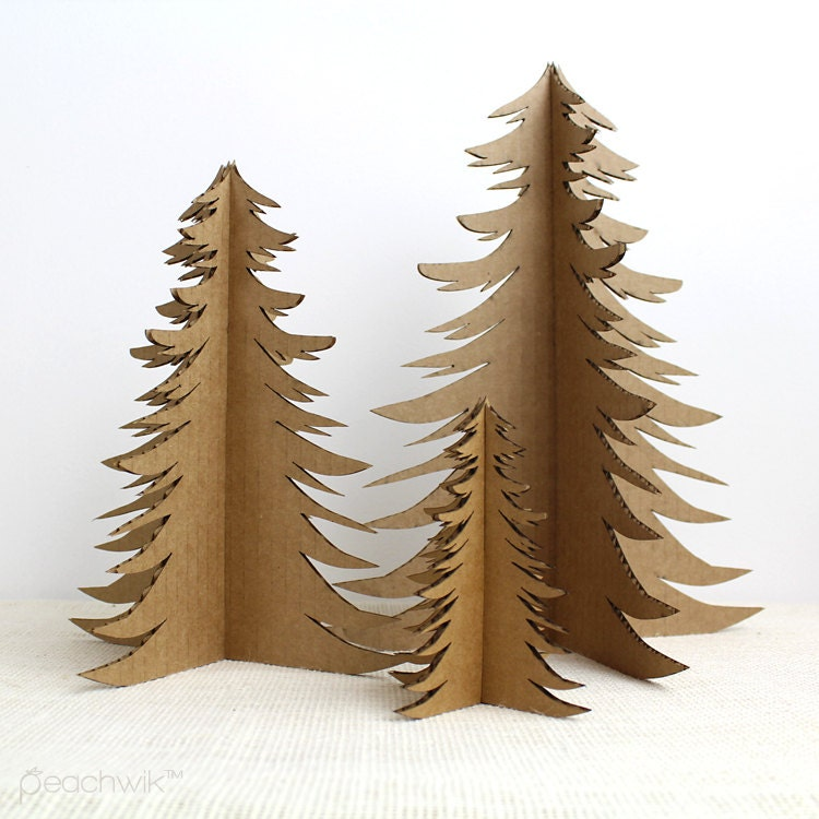 Items Similar To Recycled Cardboard Christmas Tree