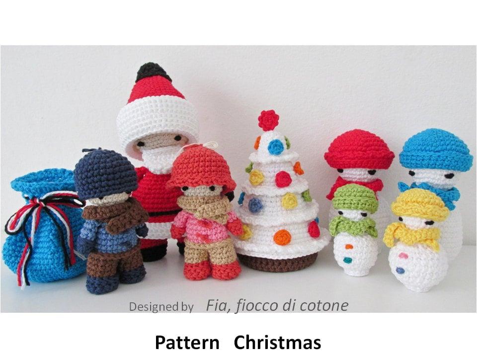 Pattern Christmas, miniature doll amigurumi crochet, Santa ...