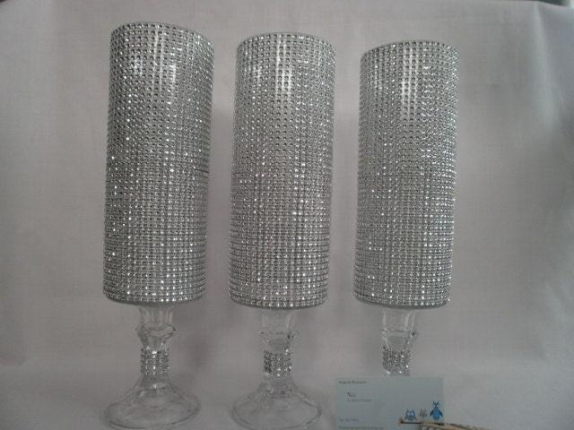 14 1 2 Crystal Covered Tall Pedestal Vase Wedding By Tiasdresses