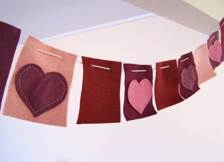 Felt Heart Banner/Garland