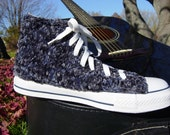 Blue Suede Shoes Knit Chucks - PrettySneaky