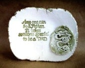 Ceramic Just for Dad  Key Coins Dish