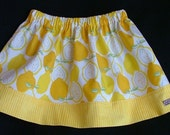 Olivia Skirt in Juicy Lemons Skirt - available sizes  1, 2, 3, 4, and 5