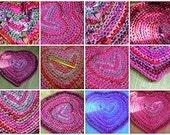 Sweet Heart Rag Rug Crochet Pattern PDF Valentines