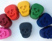 Recycled Crayon Skeleton Skulls- Set of 8