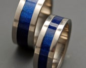 Star Blue Wedding Ring Set