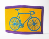 Bike Wallet - yellow, blue and purple - MartyMay