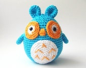 Crocheted stuffed owl christmas