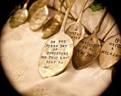 Vintage Silverware Ornaments Twelve Days of Christmas by Woodenhive