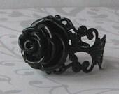 Black Magic Rose Vampire Ring