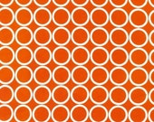 Metro Living Circles in Orange- Half Yard