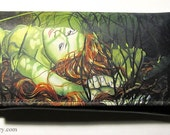 RW2 Leather MERMAID Clutch Wallet Purse Womens fantasy art Amber - RW2Gallery