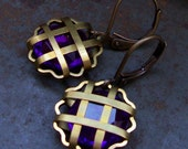 Blackberry Estate.... vintage lucite charm earrings....