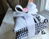 Black and White Stacked Lavender Sachets - Set of Three (3)